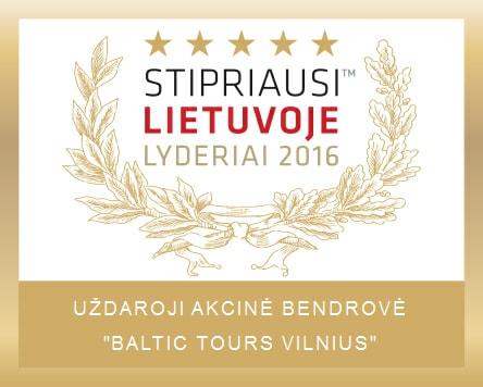 Baltic Tours stipriausi Lietuvoje