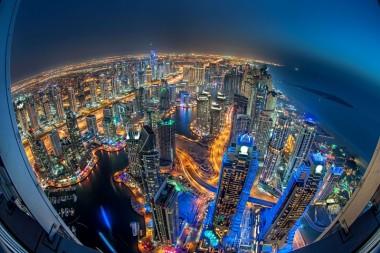 Naktinė Dubajaus panorama