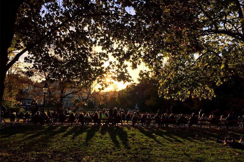 Saulėlydis parke, Vienoje