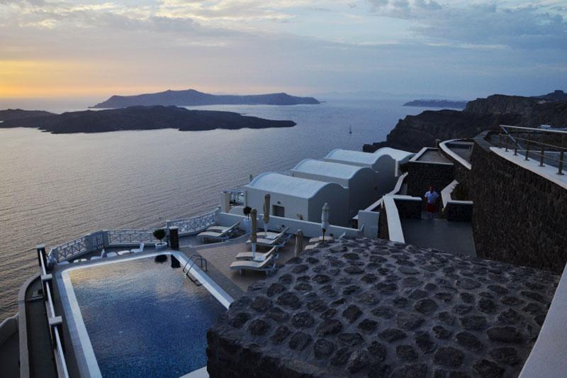 Saulėlydis Santorini saloje