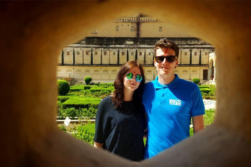 Konkurso laimėtojų pora lankosi Indijoje