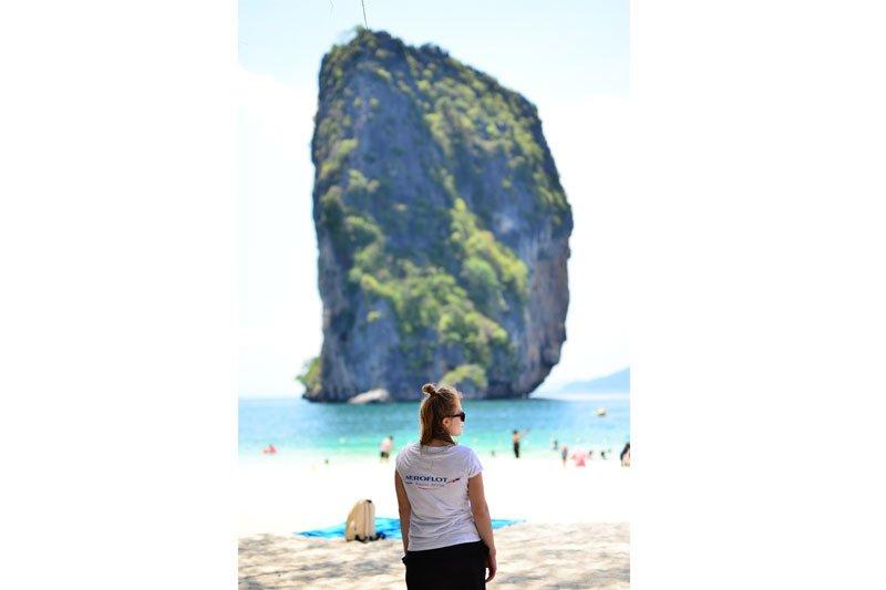 Mergina Puketo saloje