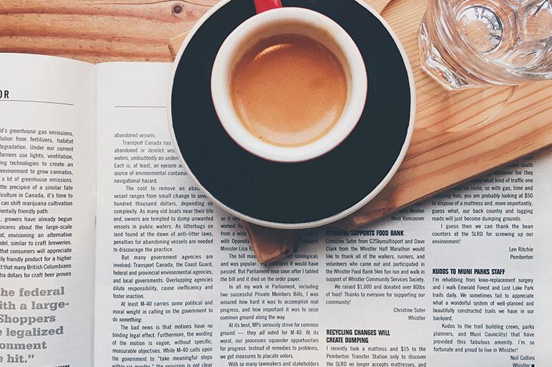 Espresso kavos puodelis