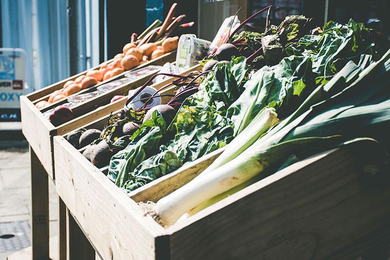 Daržovės turguje