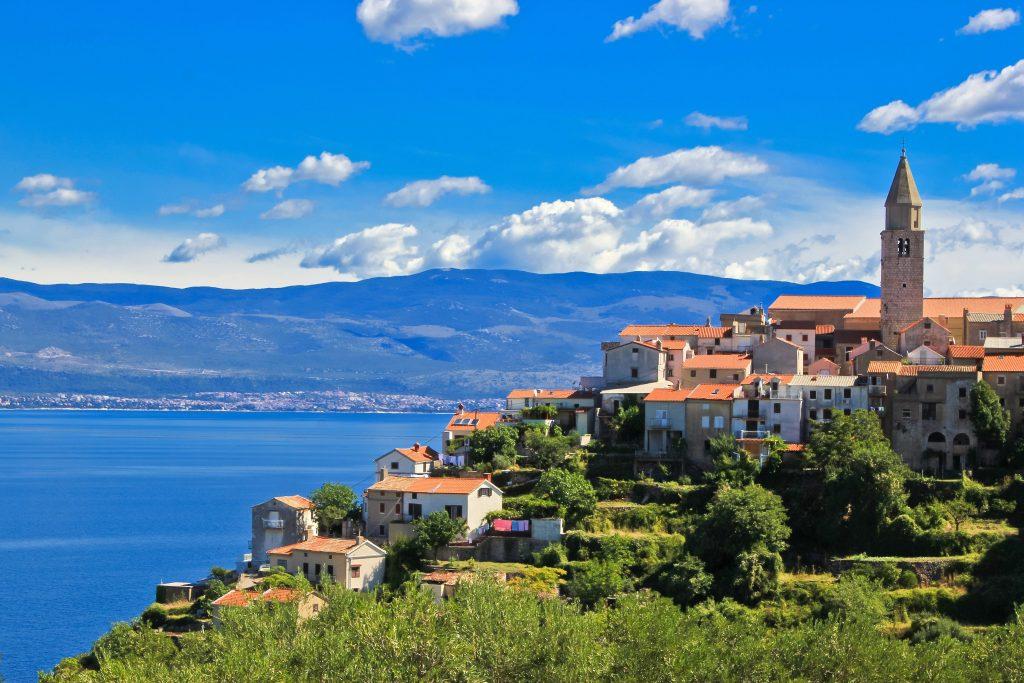 Krk salos panorama, Kroatija