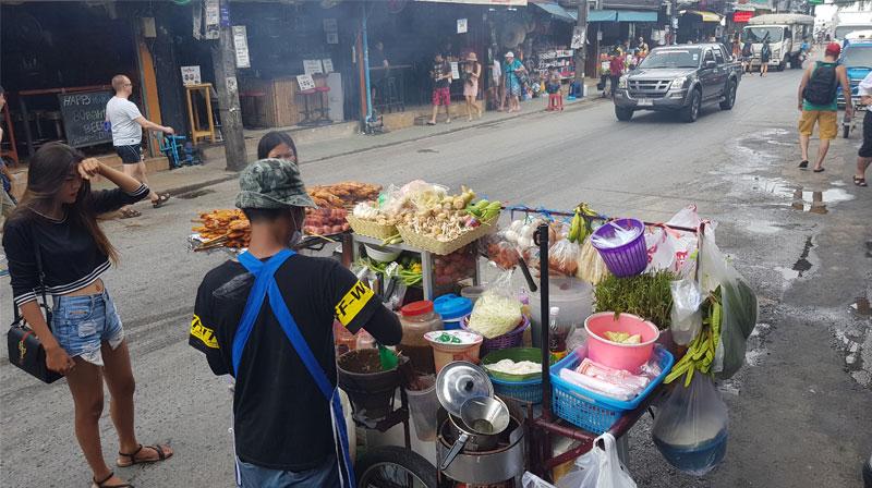 Tailando gatvės maistas, maisto prekystalis, tailandietis, gatvė