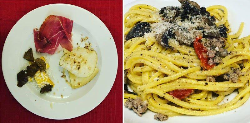 Tipiški L'Aquila regiono valgiai