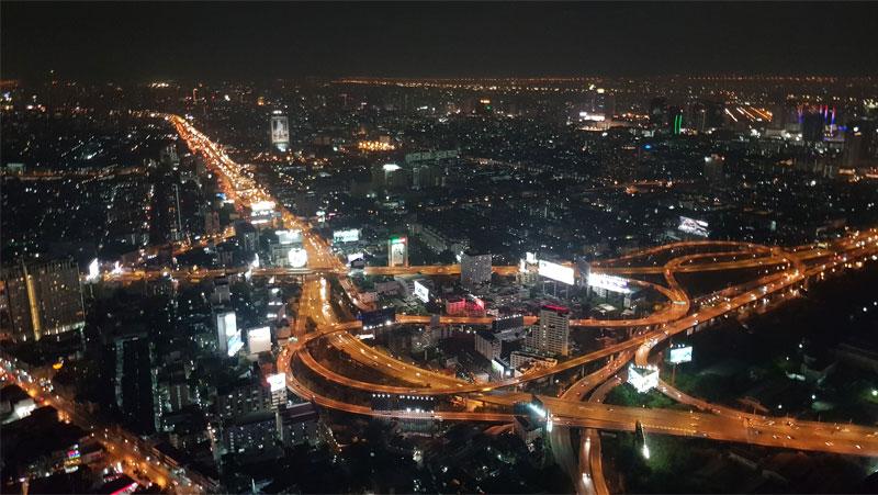 Tailandas, Bankoko panorama iš aukštai naktį