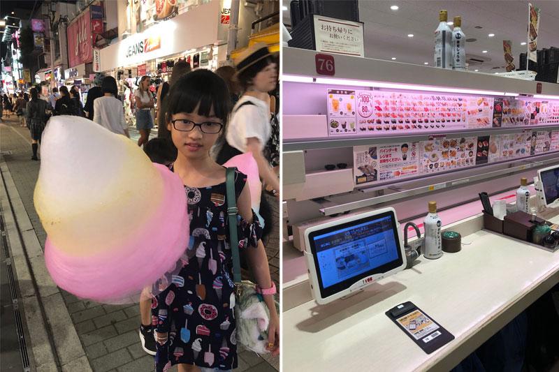 Mergaitė su cukraus vata, Japonija, elektroniniai padavėjai