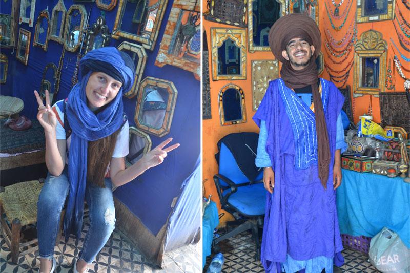 Mergina su turbanu, Marokas, marokrietis
