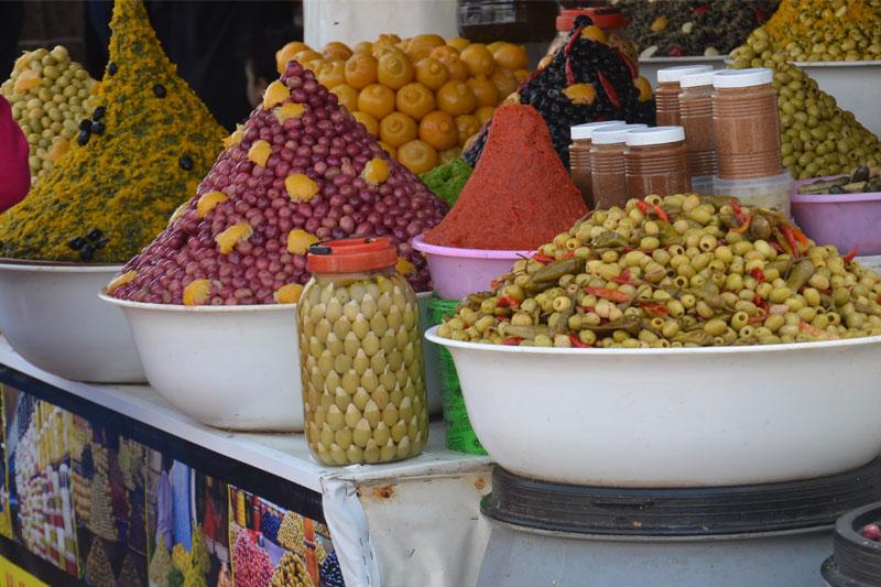 Alyvuogės, turgus, Marokas