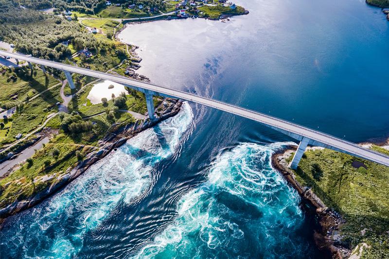 Saltstraumen vandens sūkurys, Norvegija